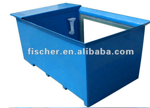 China Manufacturer High Quality Aquarium Koi Pond Frp Fiberglass Fish Tank With Viewing Window