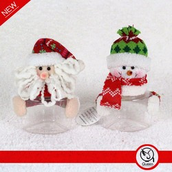 cheap christmas container,decorative christmas candy jars,christmas santa snowman candy container