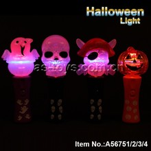 Light Up Spinners Pirate/Skull/Ghost/Pumpkin Lamp Colorful Halloween Glow Sticks