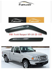 CAR DOOR VISOR RAIN DEFLECTOR FOR Ford Ranger 1997-2010 2D USE