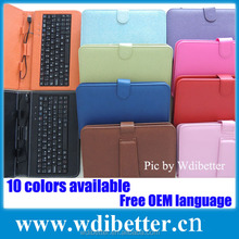 10 inch Tablet Keyboard Case PU Leather Mini USB Keyboard With Carry Stand For ipad Keyboard Cover For iPad
