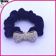simple design hairband elegant rhinestone velvet hair tie