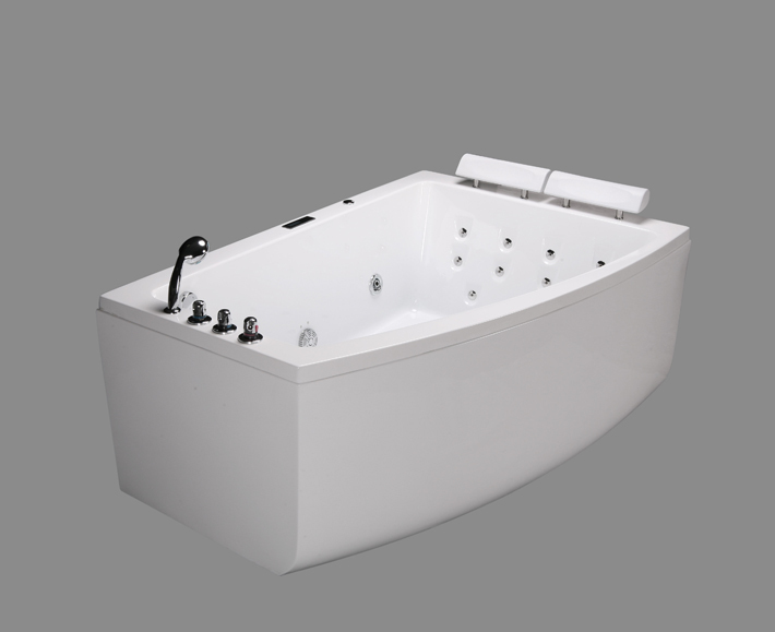2 Person Massage Bathtub Whirlpool Spa Bath Traditional Freestanding Bath B