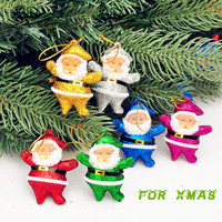 2015 hot selling christmas decoration christmas santa claus ornaments festival party Xmas tree hanging decoration-colorful