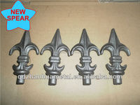 2015 new wrought iron spear design/wrought iron fence spear