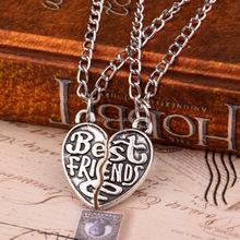 Foreign trade fashion best friend friendship heart-shaped Necklaces Broken Heart Pendant Necklace best friend