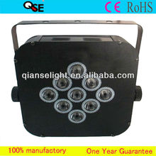 New Hot!!! Professional Stage Light 9*3W RGB 3-in-1 Flat LED Par 64