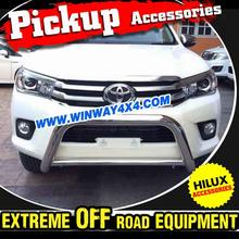 100% Brand New Low Loop 76mm Stainless Steel 2016 Toyota Hilux Revo Nudge Bar For 2015 Hilux Vigo