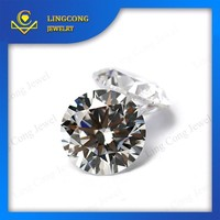 Wuzhou factory wholesale price sell 2mm cz loose stone round