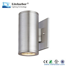 Cylinder PAR20 2*10W Stainless Steel Outdoor Glass LED Wall Lamp