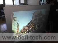 3sqm(1.524m*2m)self adhesive dark grey rear projection film with shipping cost