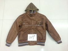 Men's imitation stocklot PU leather jacket for Middle East
