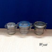 5oz 7oz glass storage jar with clamp lid clip top glass jar SLJe97