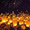 Fire retardant biodegradable eco sky flying paper lantern for wedding