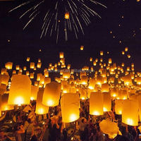 Fire retardant biodegradable eco sky flying paper lantern for wedding