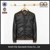 2015 Stylish Good Quality Men'S Coat, Famous Brand Jacket, Black Label Society Leather Jacket