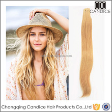 Personality Bleaching Unprocessed Natural Straight Hair Extension100% Virgin Indian Remy Hair Tape Skin Weft