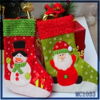 2016 wholesale christmas decorations factory price fast delivery meaningful christmas products red christmas stocking