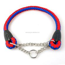 Martingale collar Braided Nylon Rope Chain Dog choke collars