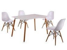 Modern Casual MDF matt Four Legs Dining Table