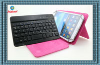 universal bluetooth keyboard leather case for 7-8 inch tablet