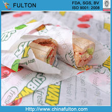 Food Grade Waxed Paper Burger Packing/Burger Wrap/Burger Paper