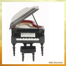 Hand Cranked Wooden Mini Piano Shaped Music Box MB 019