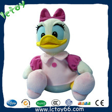 Top selling custom cute pink plush duck toy for girls
