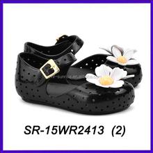 Preto pétala sapatas dos miúdos crianças mini melissa melissa sapatos