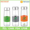 USA popular glass bottle with silicon band