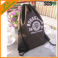 Custom print recycle shoes drawstring bag