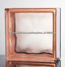 Ladrillo de alta calidad del vidrio 190 × 190 × 80 mm