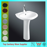 best selling wall mounted bathroom wash basin bath sink with pedestal