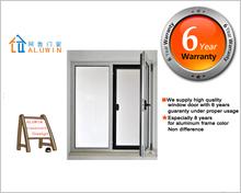 2015 new design aluminium glass casement window