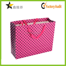 hot sale ! China wholesale Custom cheap cotton handle strong gift paper bags shopping paper bag