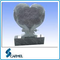 Heart Dolphin Design Black Child Headstone