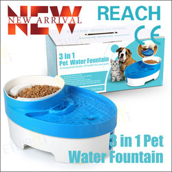 Newest 3 in 1 Featured Dog Drinking Water Fountain