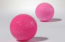 pink fluorescent golf ball