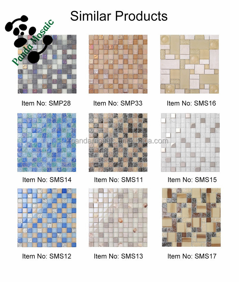 Mb Sms14 Ice Cracked Broken Glass Mosaic Tile Blue Mosaic Tile ...