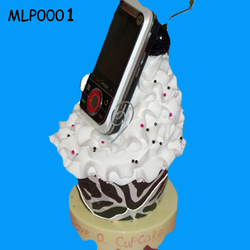 Original Cupcake Office Gift Funny Cell Phone Holder for Desk