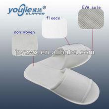 open-toe soft comfortable white eva spa slippers sandals