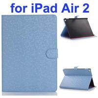 Diamond Texture Flip Leather Case with Back Cover for iPad Air 2 with Gears