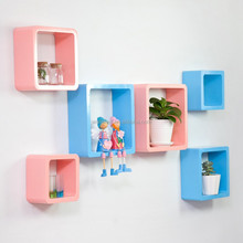 Wood Square Wall Cube Shelves/round corner storage display cube shelf