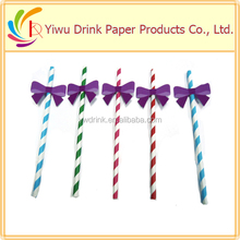 2015 new popular fashion ribbon paper straw wholesale