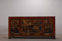 antique furniture painted colorful cupboard rustic lacquer Console