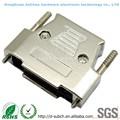 Conector d-sub 25 pinos hood 180 grau hdb44pin alta densidade shell conector