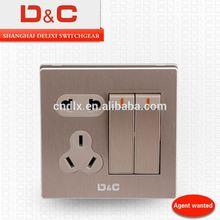 [D&C]Shanghai delixi 2 gang wall socket