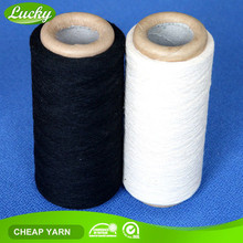24 hours production low TPI cotton black and white knitting yarn for glove