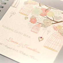 high quality custom wedding guest book