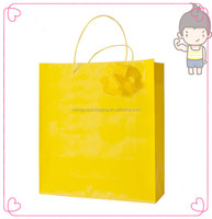Yellow color and light blue paper bags for christmas gift bag